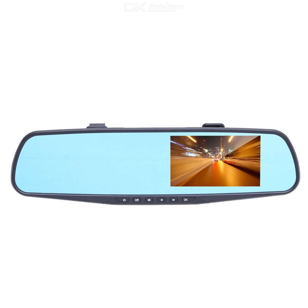 Quelima 4.3 inch 1080P Driving Recorder with Double Lens and Cyclic Video Recording