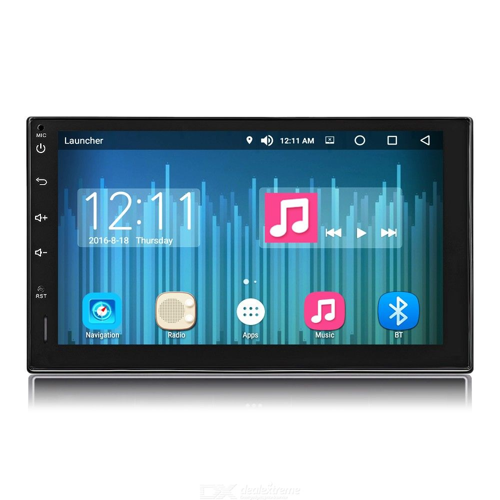 Android 8.0 Car Radio Stereo 7 inch Capacitive Touch Screen High Definition 1024x600 GPS Navigation Bluetooth USB SD Player 4G