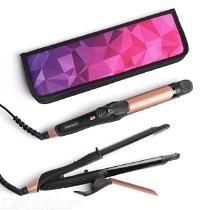AMOVEE-2-in-1-Mini-Flat-Iron-Curling-Iron-Travel-Hair-Straightener-with-Black-Titanium-Coated-and-Dual-Voltage