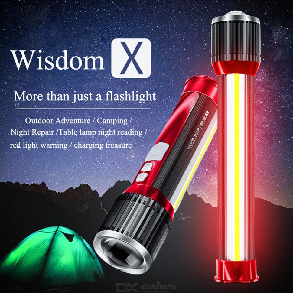 Tactical LED Flashlight 2000LM Zoomable Torch Light With 7 Light Modes