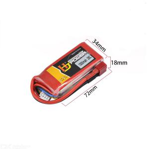 1pcs Oriainal 11.1V 1300Mah 25C  T Plug Lipo Battery 3s for RC Car Airplane Helicopter