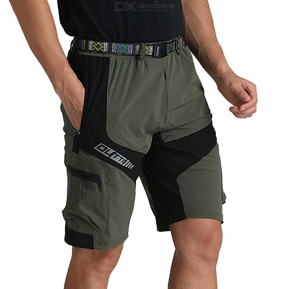 Breathable Casual Cycling Shorts Summer Quick Dry Zipper Pants With Belt For Men