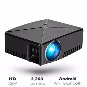 C80 Mini Projector HD 720p LED Portable Projector HD Theater Home Cinema black