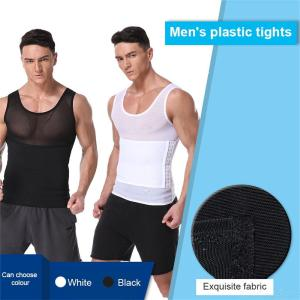 Mens Tummy Control Tank Top Breathable Mesh Shaperwear
