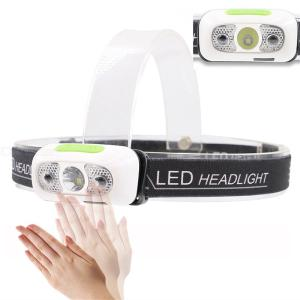 Tactical LED Headlamp 300LM Waterproof Gesture Recognition Headlight With 3 Light Modes