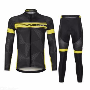 Mens Cycling Jersey Set Quickdry Breathable Long Sleeve Sports Clothing