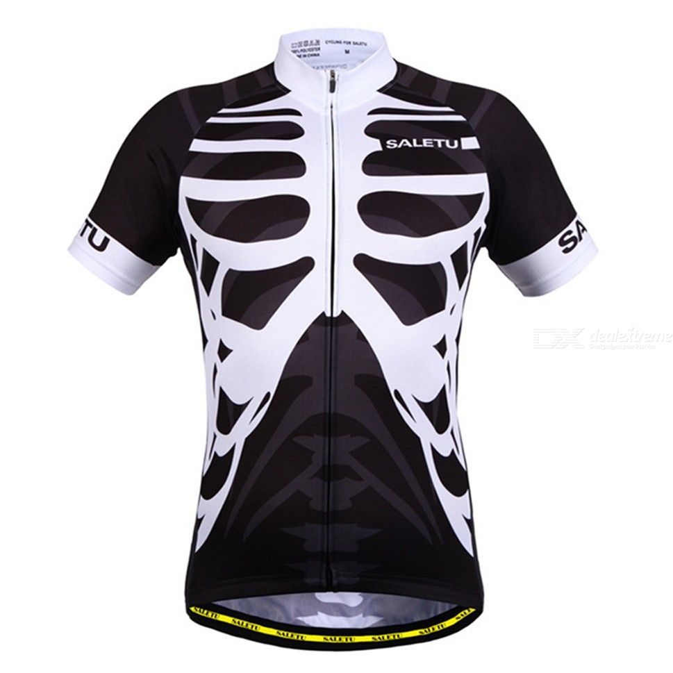 Mens Cycling Jersey Tops Quickdry Breathable Short Sleeve Sports Clothes