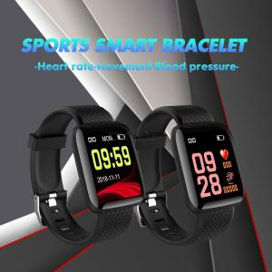 116 Plus 13 Inch Smart Bracelet Fitness Tracker With Sports Modes Heart Rate Monitor And Message Reminder