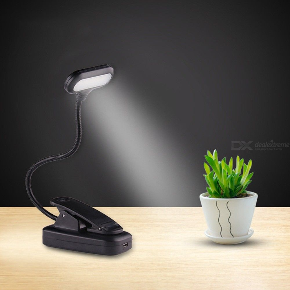 LED Reading Lamp Clip Eyecaring Light With Adjustable Arm