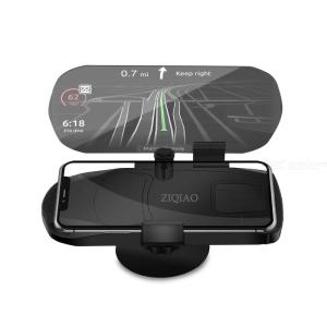 ZIQIAO CZN-P02A Universal Mobile Phone Car Holder Projector HUD Head Up Display - Black