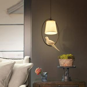 YWXLight Creative Minimalist Bird Statue Chandelier, Decoration Pendant Light for Home Cafe Dining Room