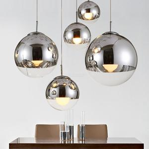 YWXLight Round Glass Chandelier, Ceiling Creative Pendant Light for Bar Hotel Home Decoration
