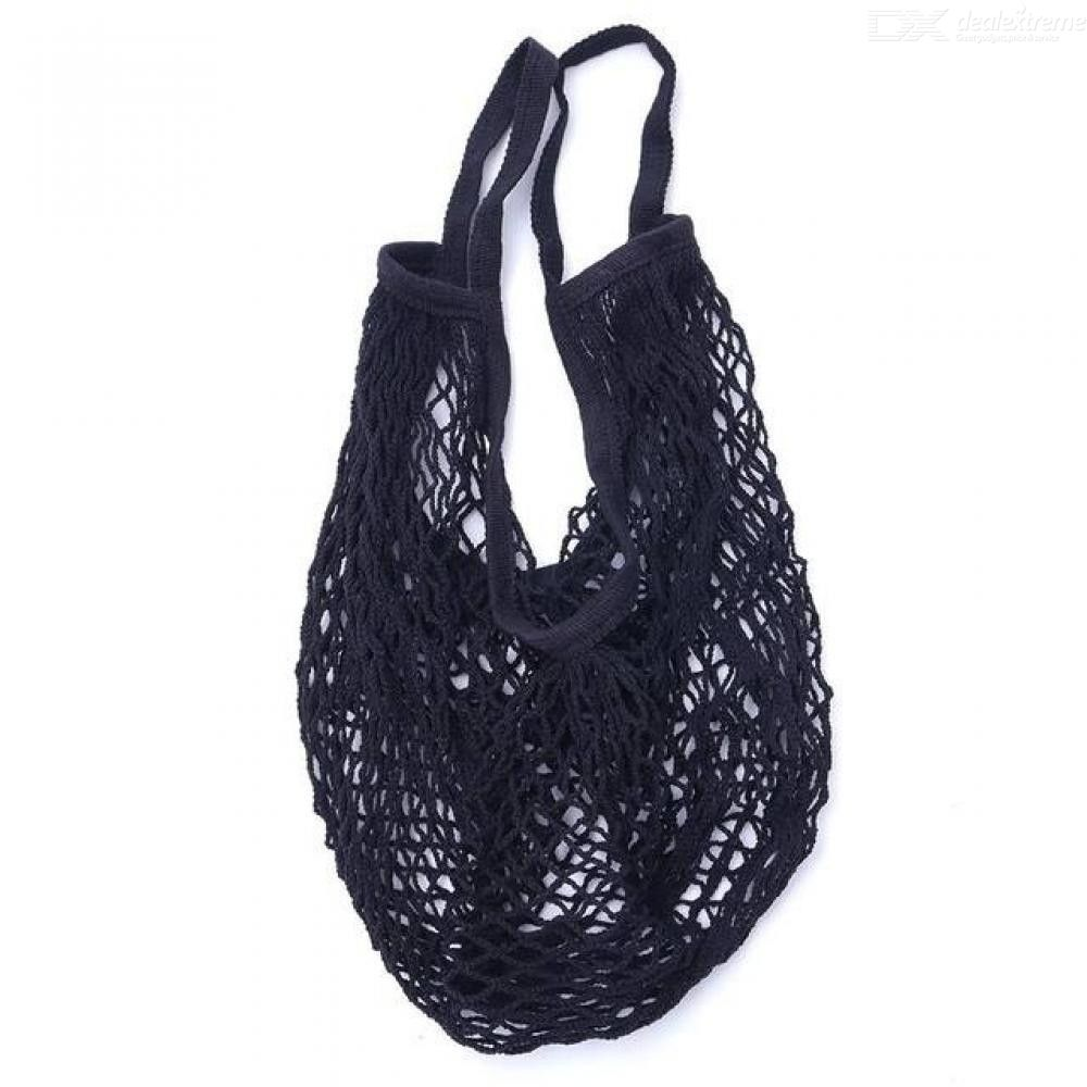 Cotton Grocery Bag Reusable Net Shopping Bag With Handle
