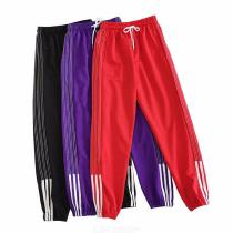 Womens Training Pants Casual Loosefitting Striped Sports Trousers With Drawcords