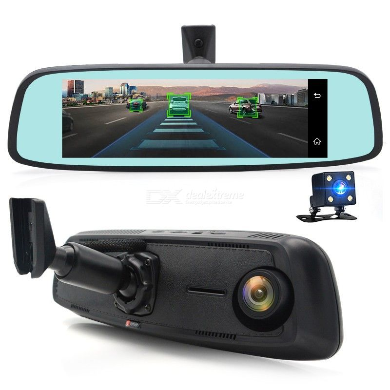 Junsun K755 Special 4G LTE Car Camera 7.84 inch Double Lens Rearview Mirror