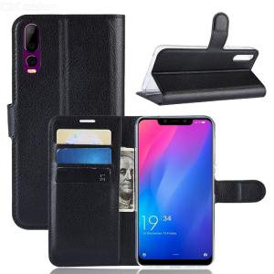 Naxtop Lychee Phone Wallet Flip Cover Holder Case Protective for Elephone A5