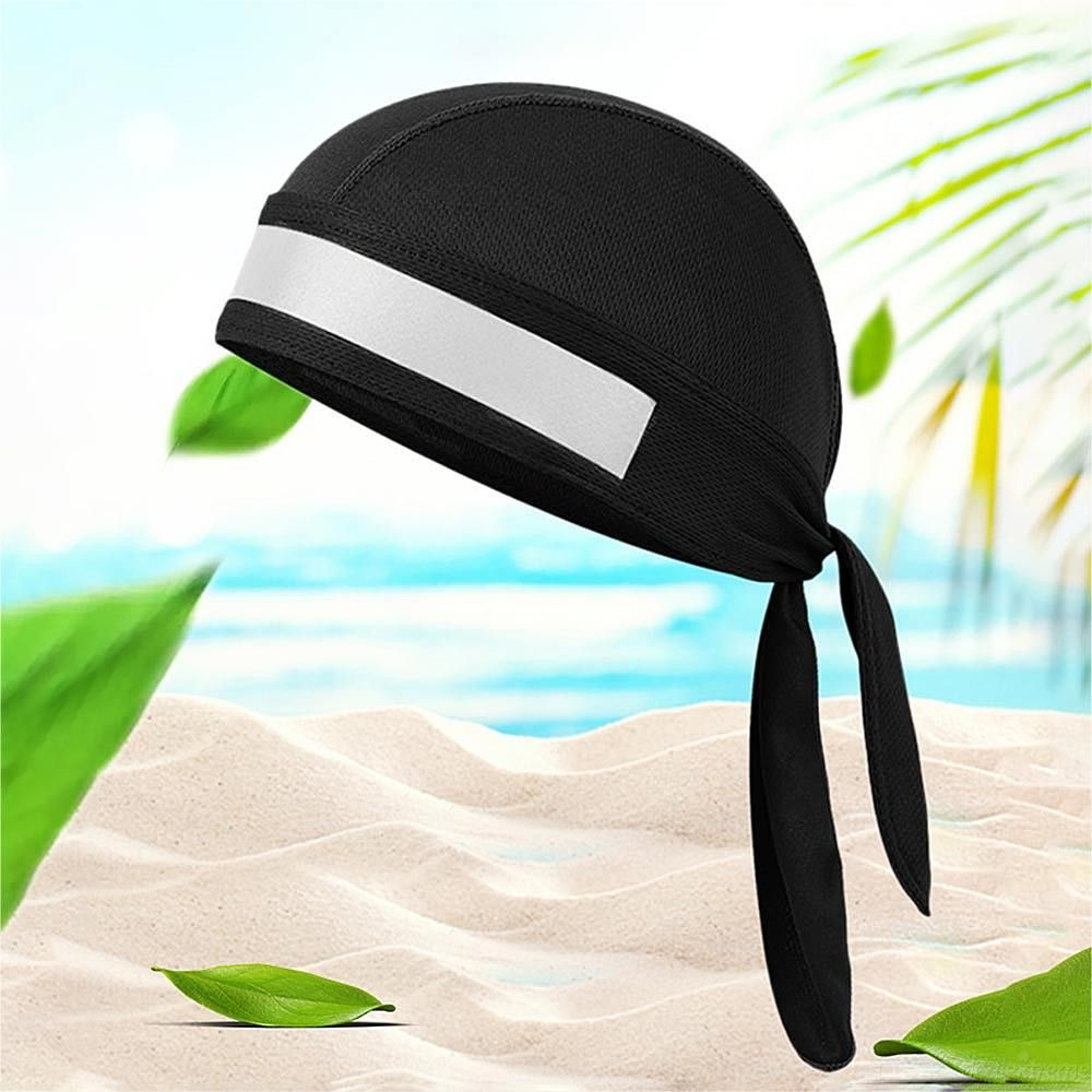 Stylish Cycling Cap Quickdry Breathable Beanie Skull Cap With Reflective Strip