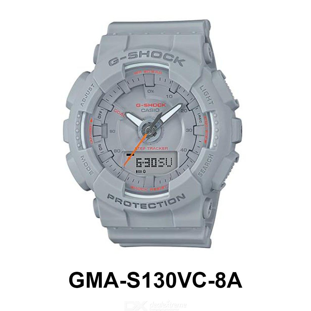 Casio G-Shock GMA-S130VC-8A Waterproof Watch Shock Resistant Wristwatch With Step Counting Function