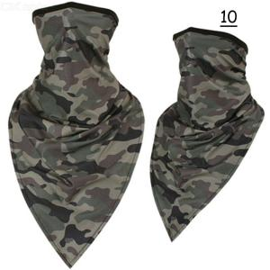 Breathable Cycling Face Mask Outdoor Camouflage Print Bandana Face Sheild For Riding Motorcycling