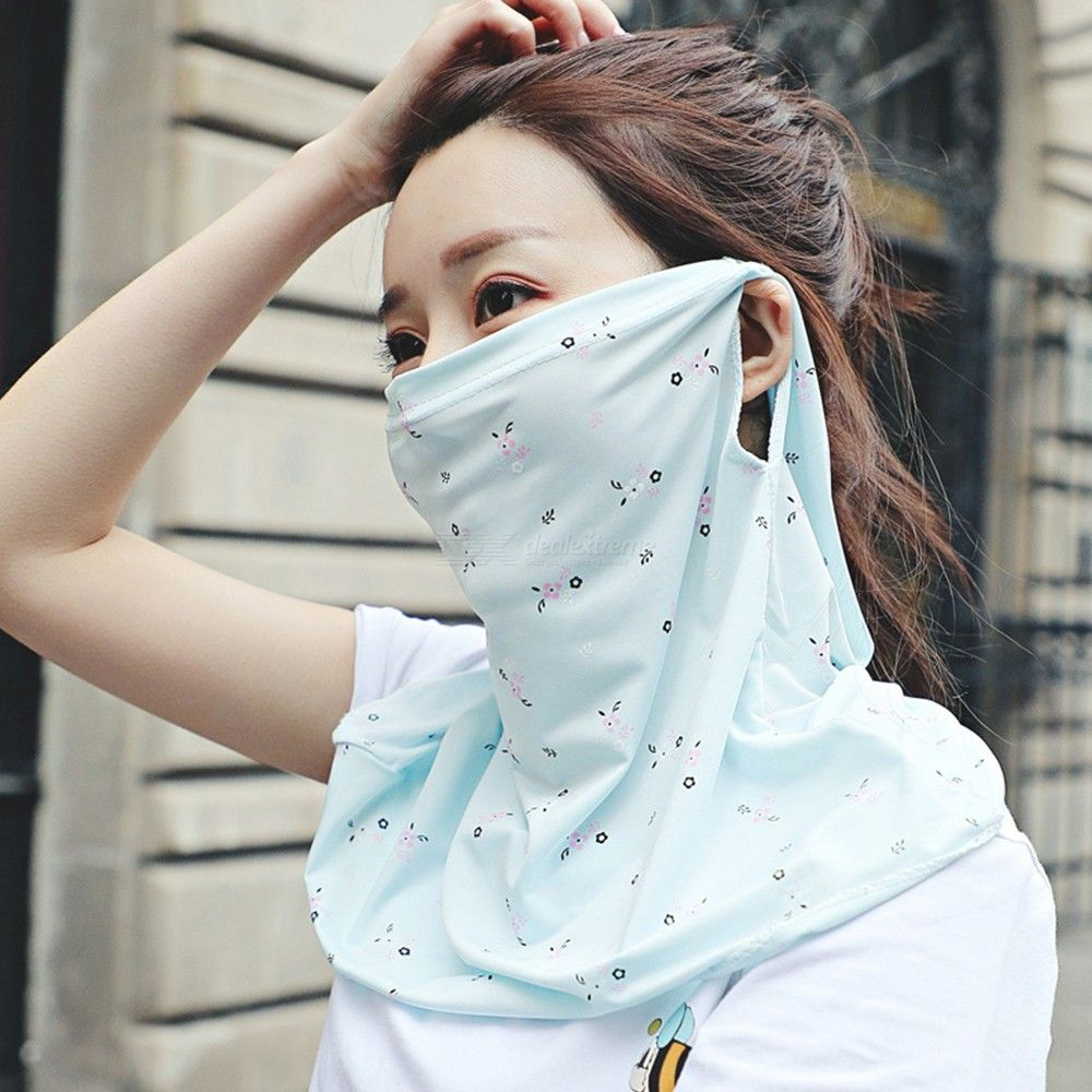 Womens Face Neck Mask Non Slip Floral Print Bandana Gaiter Mask For Cycling