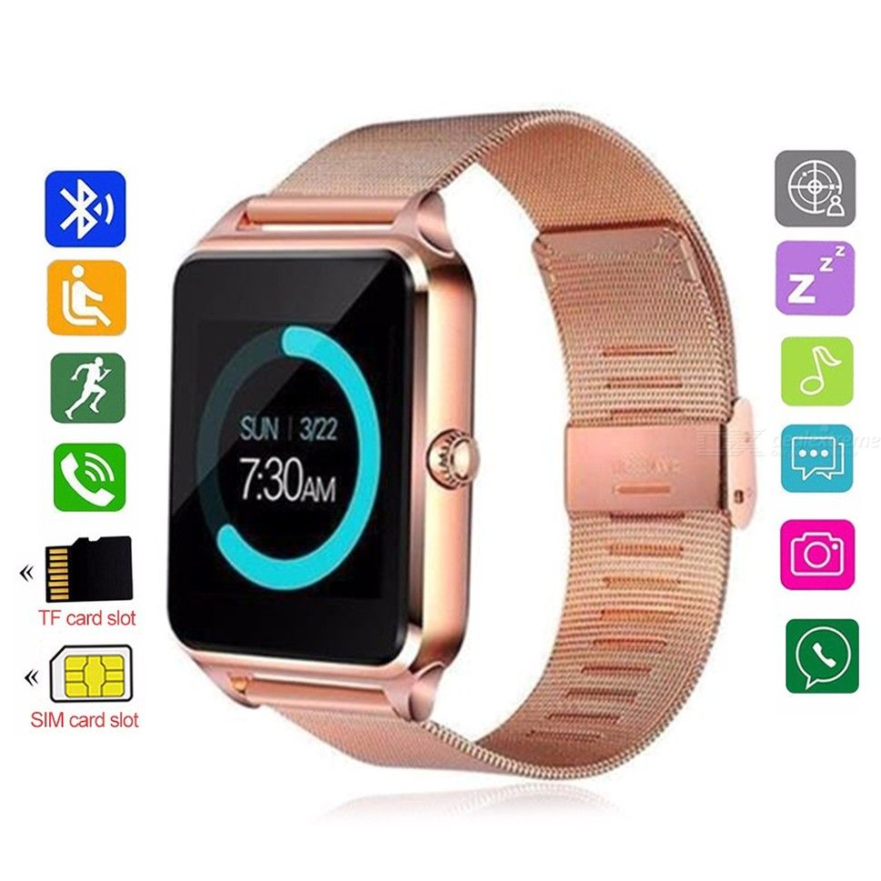 GTcoupe Z60 Smart Bluetooth Watch,Multi Function Sport Waterproof Band Support SIMTF Card For iPhone Android