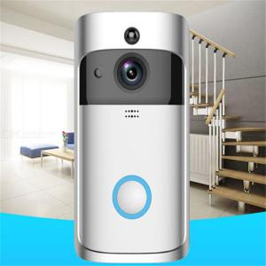 Wireless Video Doorbell  Remote Surveillance Camera Mobile Phone Smart WIFI HD Free Punching Cat Eye