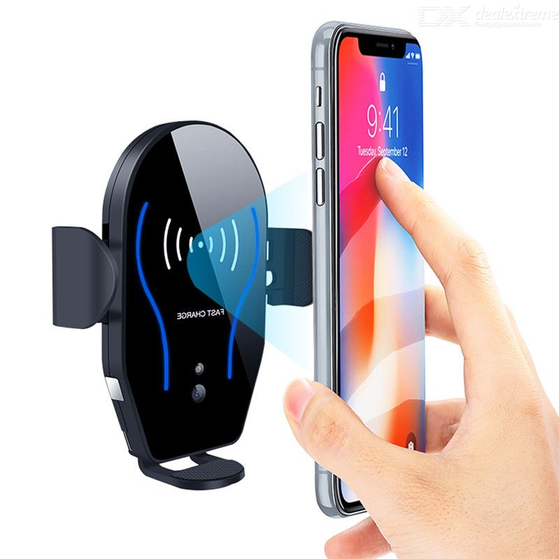 10W Qi Wireless Charger Quick Charge Smart Proximity Sensor Car Phone Holder