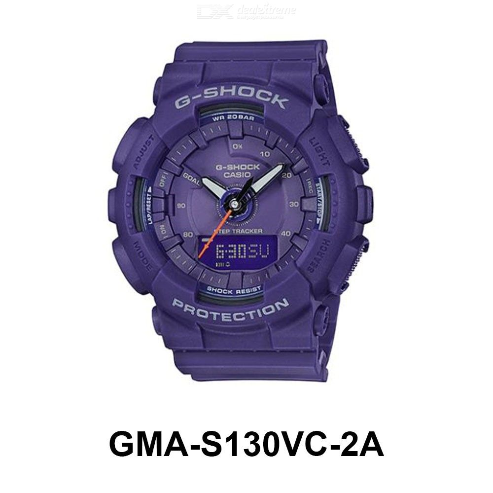 Casio G-Shock GMA-S130VC-2A Sports Watch Waterproof Wristwatch With Step Counting Function