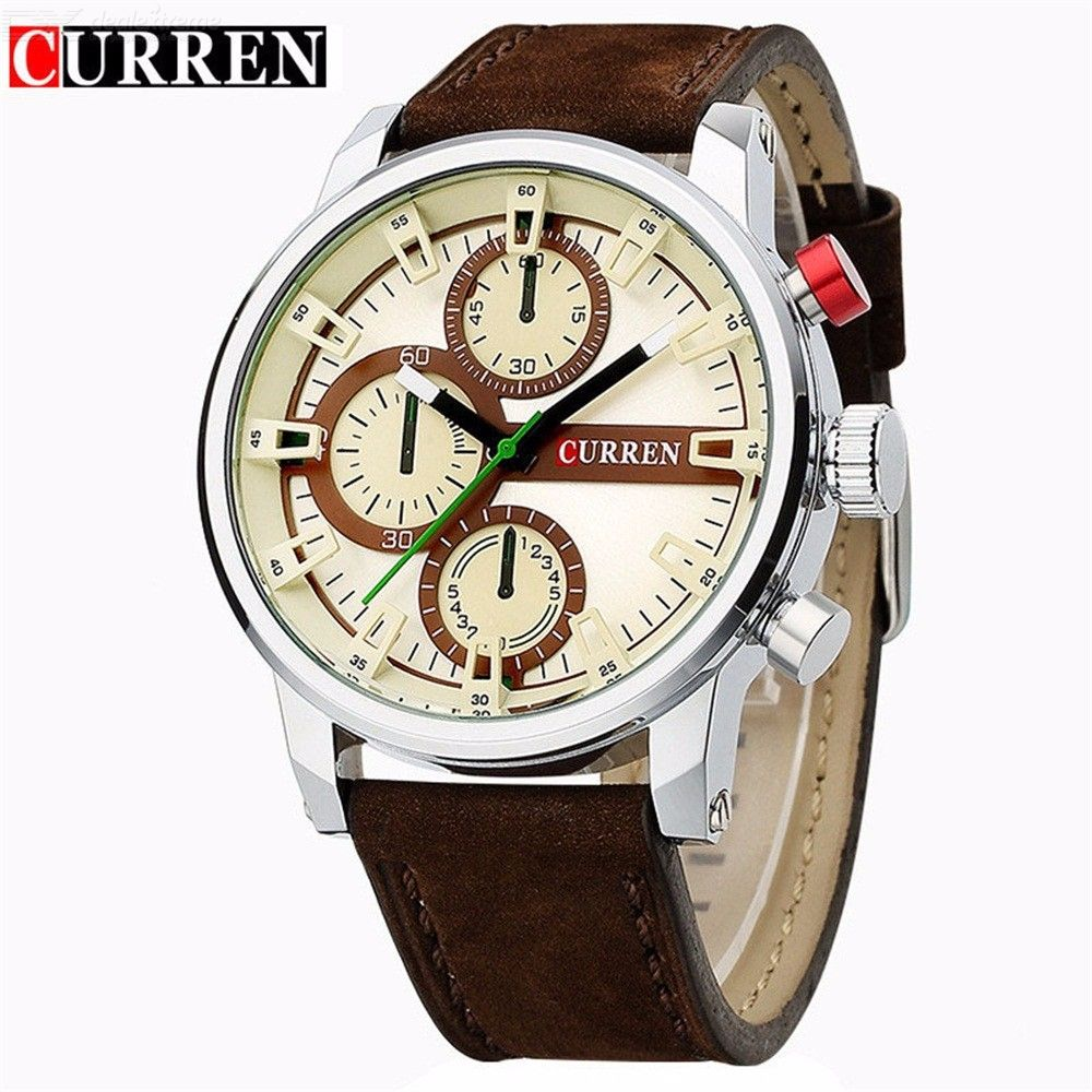 CURREN 8170 Casual Business Watch Quartz Wristwatch With Leather Strap For Men