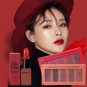 Waterproof Lustrous Lipstick Set 5 Color Sheer Long-lasting Lipstick Kit