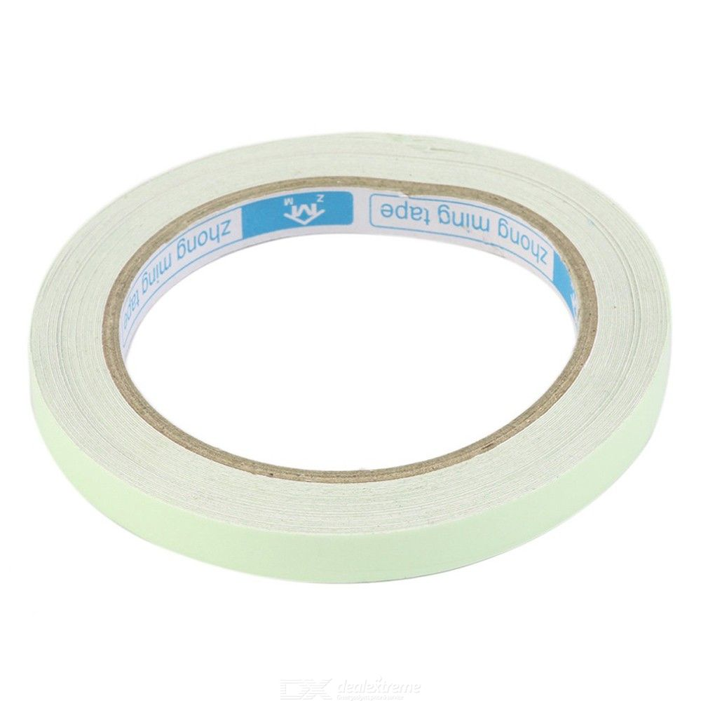 10m X 10mm Luminous Self-adhesive Warning Tape For Home Safety Security Decoration