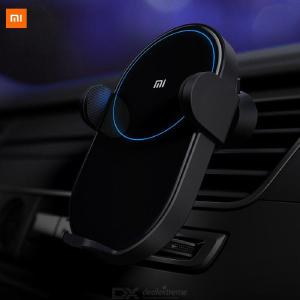 Original Xiaomi Wireless Car Charger 20W Max Electric Auto Pinch 2.5D Glass Ring Lit Charging Mi Smartphone Mobie Phone Holder