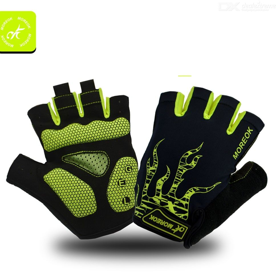 Breathable Half Finger Glove Palm Protection Cycling Gloves With Anti Slip Shock-Absorbing Gel Pad For Outdoor Sports