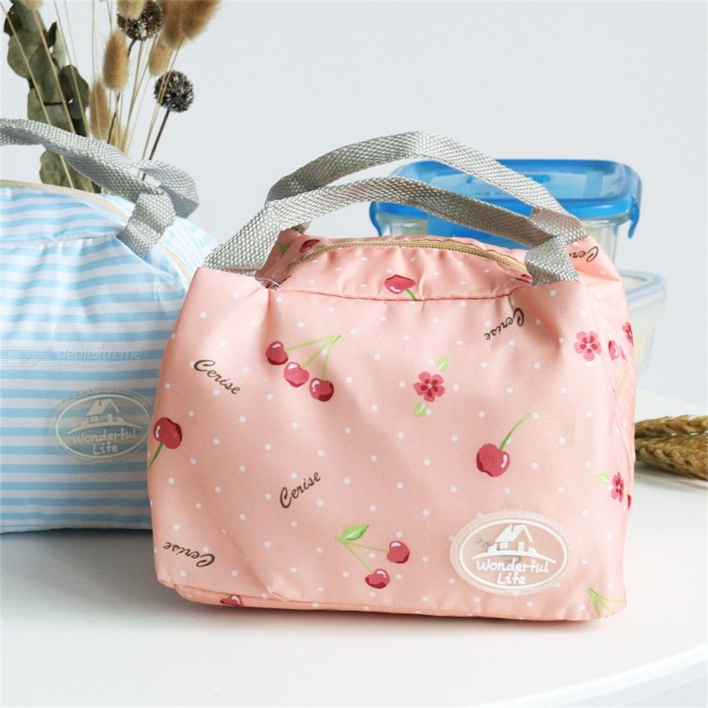 Thermal Insulated Lunch Box Bag Portable Zipper Cooler Bags Food Container
