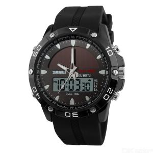 SKMEI 1064 Mens Sports Digital Relógio De Pulso De Quartzo - Preto