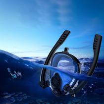 Full-Face-Snorkel-Masks-Double-Longer-Ventilation-Pipe-Diving-Breath-Mask-for-Adults-(Size-SM)