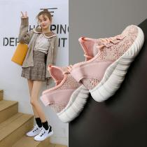 Womens-Walking-Shoes-Knit-Breathable-Lightweight-Slip-On-Tennis-Running-Sport-Sneakers