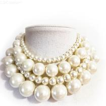 Elegant-Pearl-Necklace-For-Women-Collar-Choker-Costume-Jewelry-Dia-25mm-Pearl