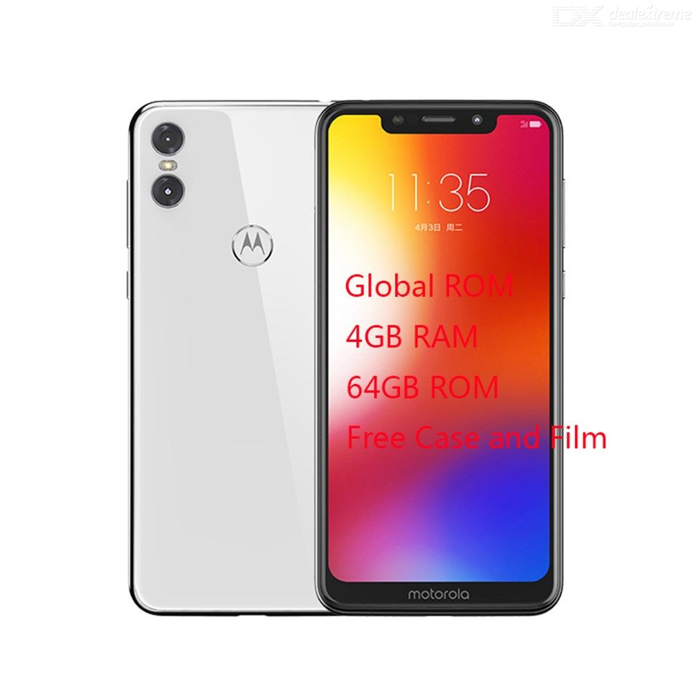 Motorola MOTO P30 Play Global Version 4GB RAM 64GB ROM 5.86 Inch Smartphone Octa Core 3 Cameras Fingerprint Identification