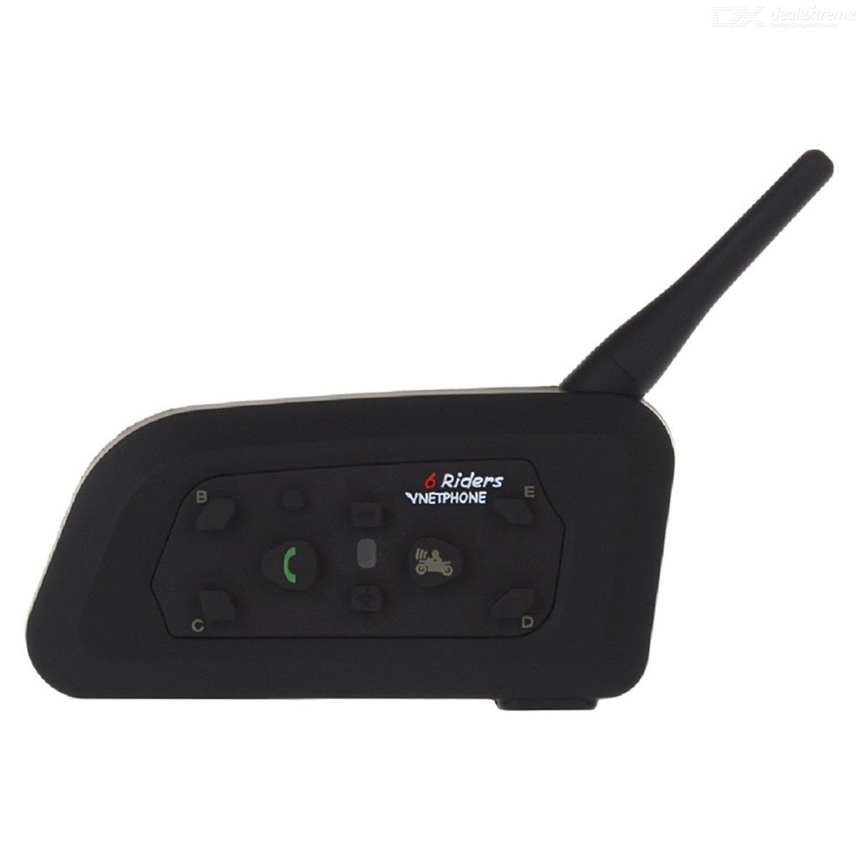 Bluetooth V2.0 + EDR 1-to-6 Interphone Motorcycle Headset - Black
