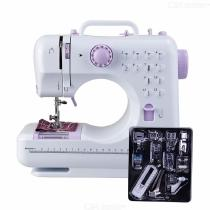 Fanghua-505A-Mini-12-Stitches-Sewing-Machine-Household-Electric-Mending-Machine-White-And-Purple