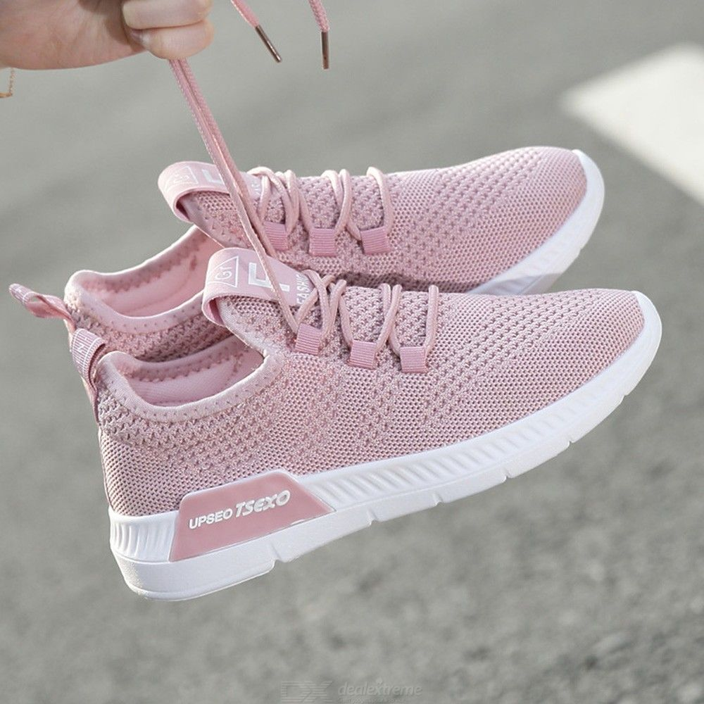 Womens Casual Walking Shoes Knit Breathable Lightweight Slip On Tennis Running S