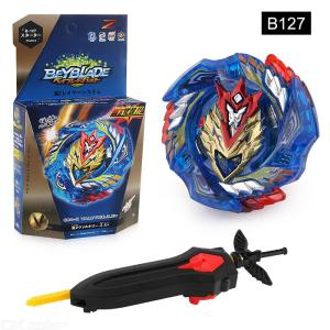 Powerful Burst Gyro Toy Set Fighting Spinning Top With Launcher For Children
