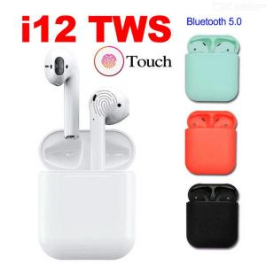 I12 TWS Bluetooth 5.0 Earbuds True Wireless Bluetooth Earphone With Charging Case