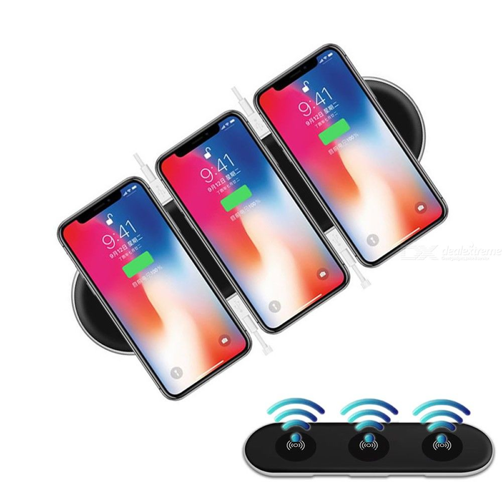 Cwxuan 3-in-1 Multi-Function Qi Wireless Charger W 4 USB Charging Ports For IPHONE X 8, 8 Plus, Samsung Mix 2S