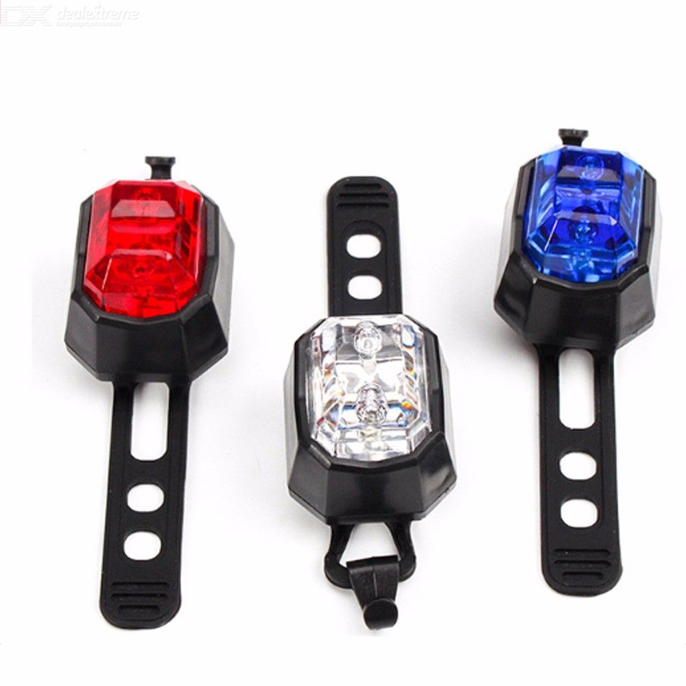 Multifunctional Bicycle Taillight Outdoor Riding 5LED Warning Light Helmet Light