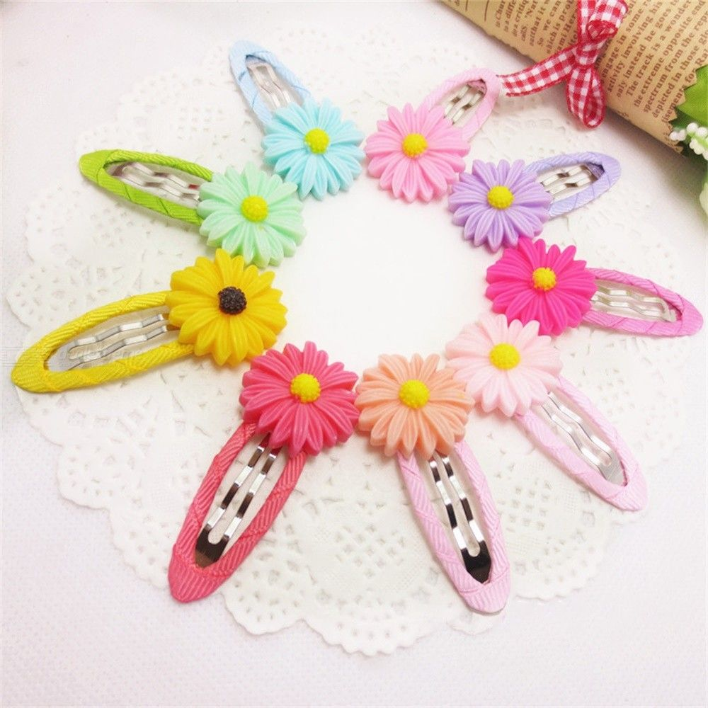 Cute Hair Clips Flower Decoration Barrettes For Children Accessories (9PCS) фото