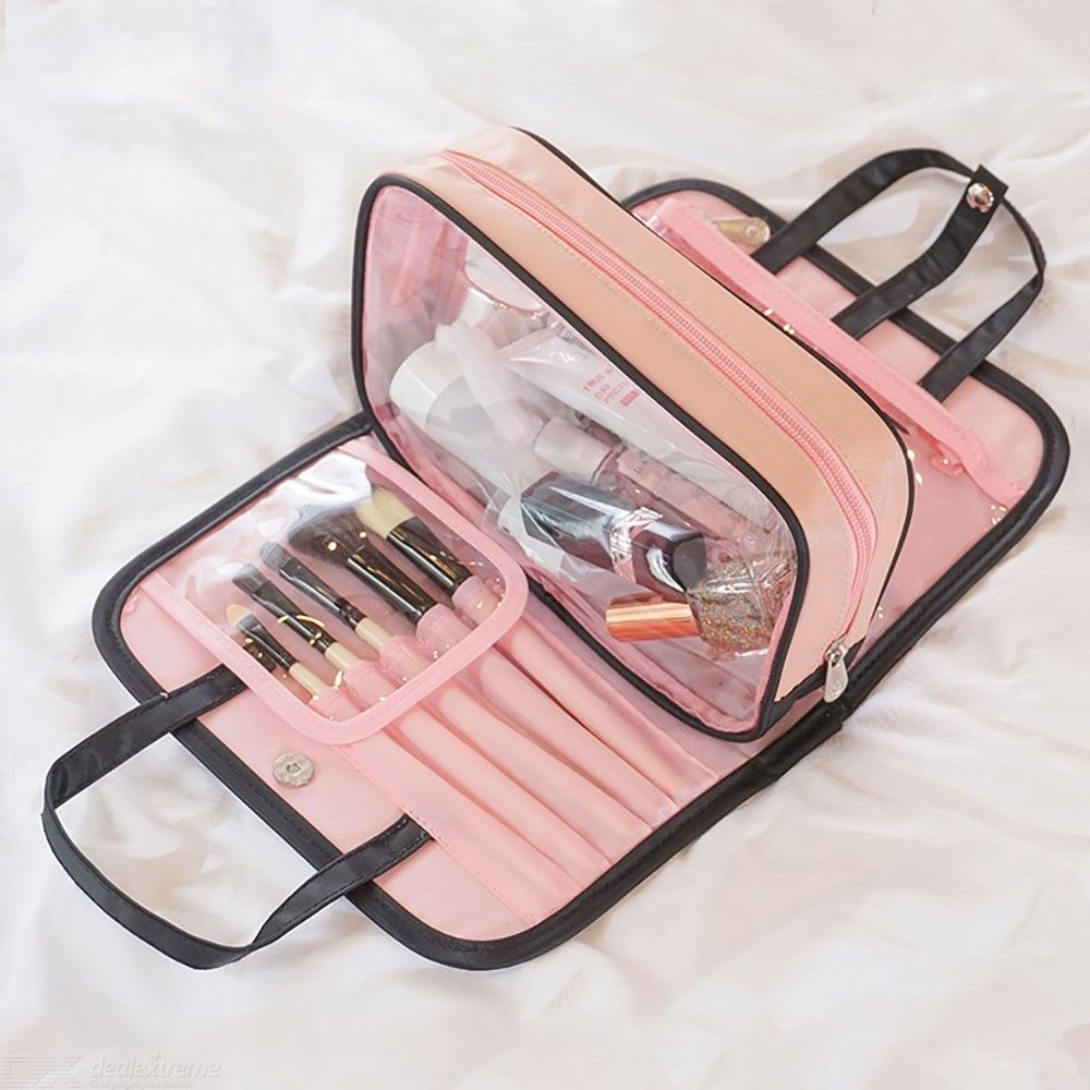2-in-1 Travel Cosmetic Bags Detachable Waterproof Toiletry Bag Portable Large Capacity Makeup Pouch