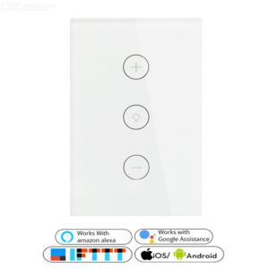 SD120-03CMW US Smart Dimmer Switch WiFi Light Switch Compatible With Alexa Google Home