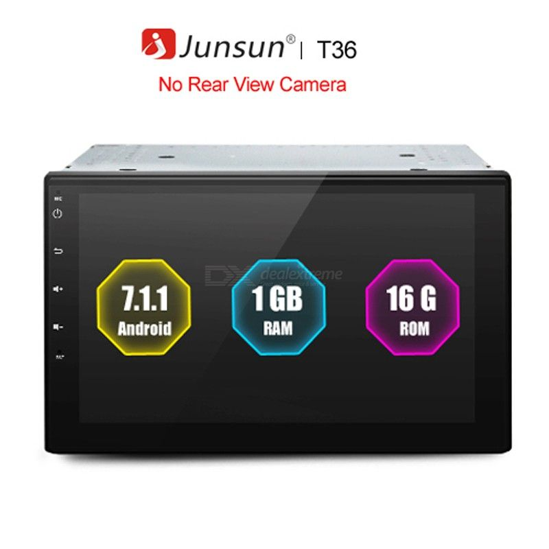 Junsun Univesal 2 Din 7.1 inch Android GPS Navigation with WiFi Media Player FM Handsfree Calling Support DVR for Car